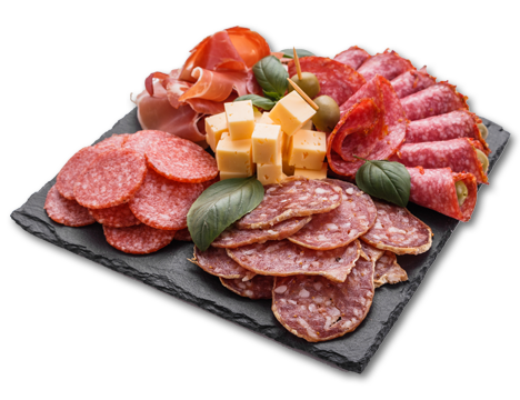 Cured meats platter